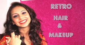 Retro Hair & Makeup | Bright Lips | Curls