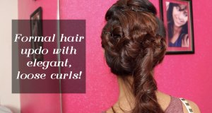 Formal Hair Updo With Elegant Loose Curls   Indian Wedding Special