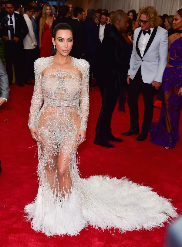 Kim Kardashian in Roberto Cavalliat the MET Gala 2015
