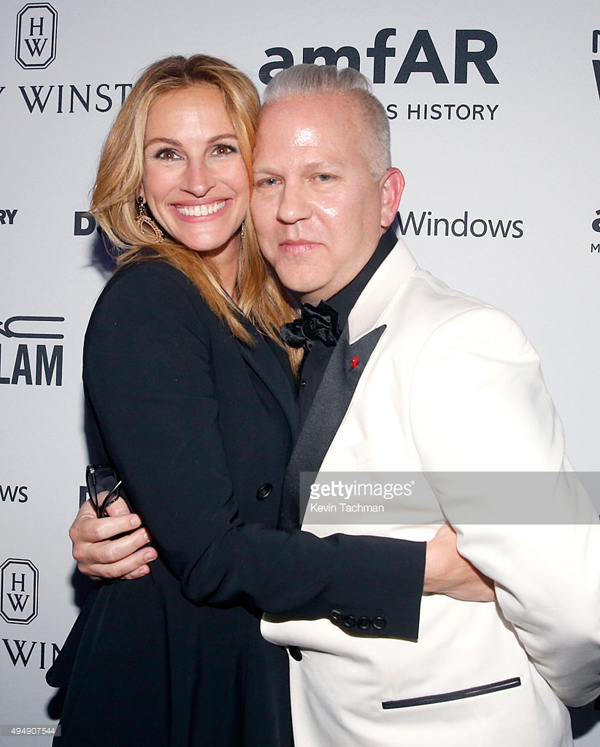 Julia Roberts and Ryan Murphy amFAR celeb style