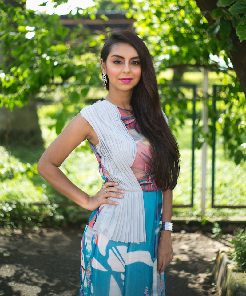Vizyon Peplum Gown Personal Style Layer Up Them Colours