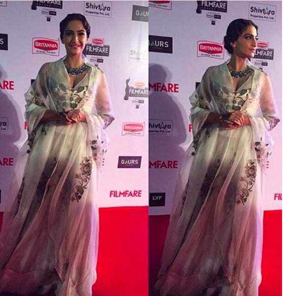 Sonam: Who Wore What At The Filmfare Awards 2016