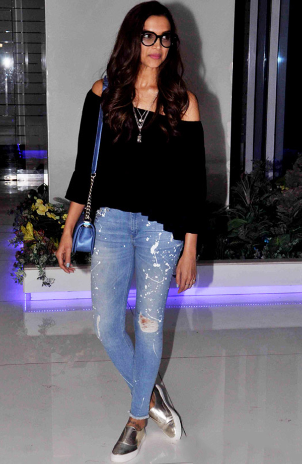 Deepika Padukone Off With The Shoulder, In With The Trend