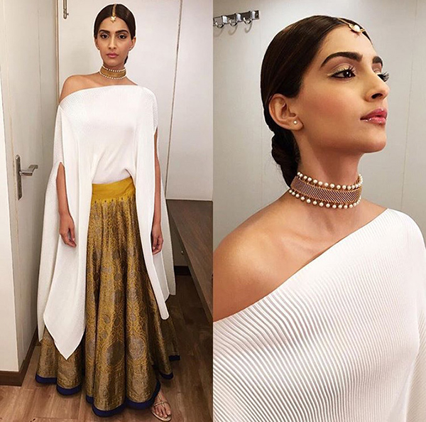 Sonam Kapoor Off With The Shoulder, In With The Trend