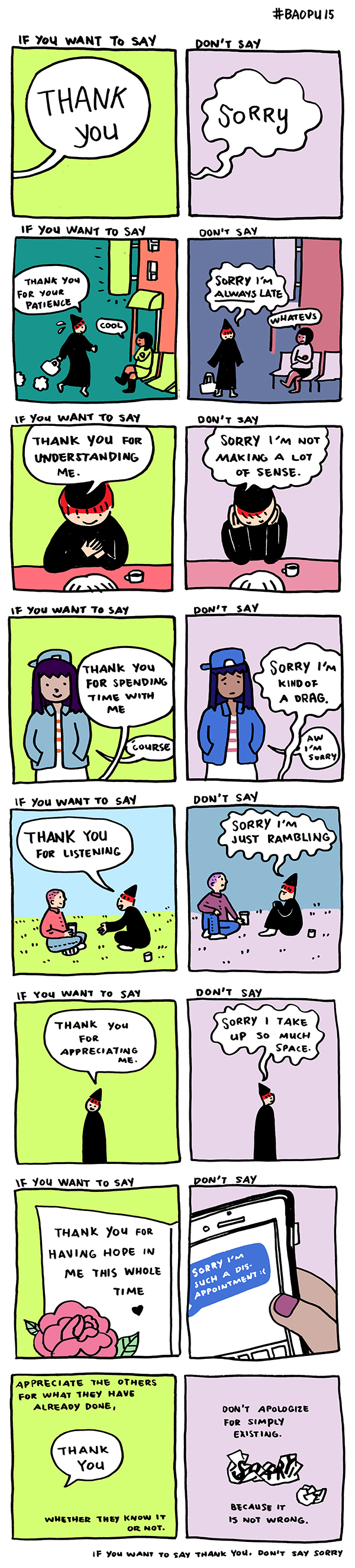 The #MagicWords Conundrum: When To Say Thank You And Not Sorry