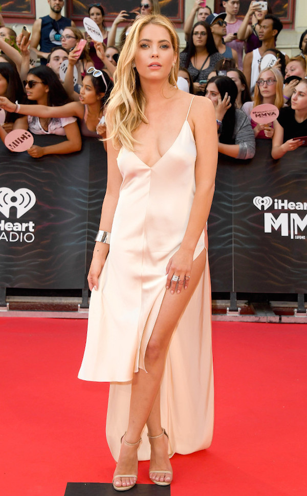 Ashley Benson Lucy Hale Best Dressed From The iHeart Radio Much Music Video Awards