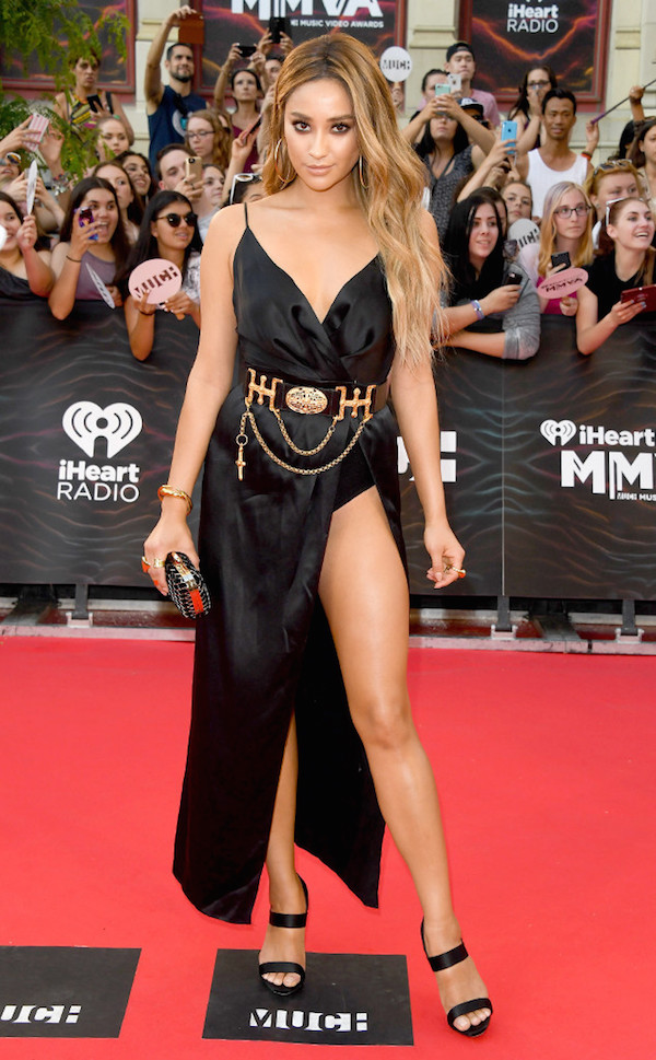 Shay Mitchell Lucy Hale Best Dressed From The iHeart Radio Much Music Video Awards