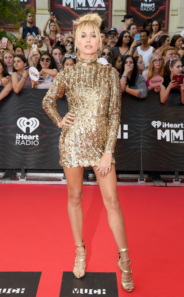 Hailey Baldwin Lucy Hale Best Dressed From The iHeart Radio Much Music Video Awards