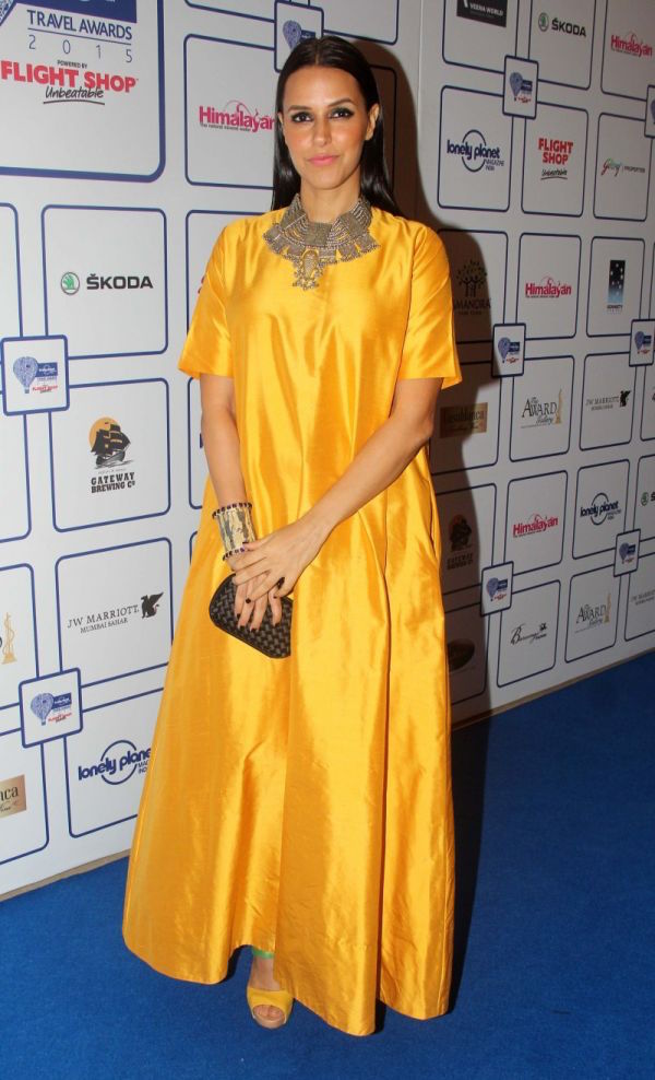 Neha Dhupia at the Lonely Planet Travel Awards 2015